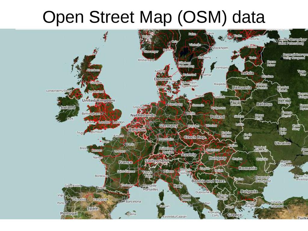 8 Open Street Map (OSM) data