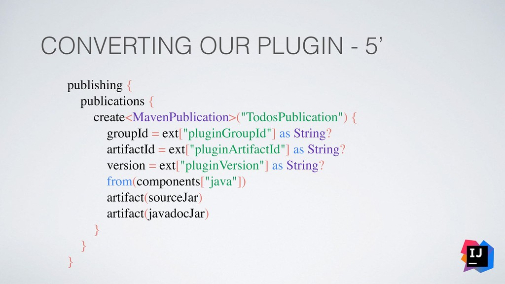 CONVERTING OUR PLUGIN - 5' publishing { publica...