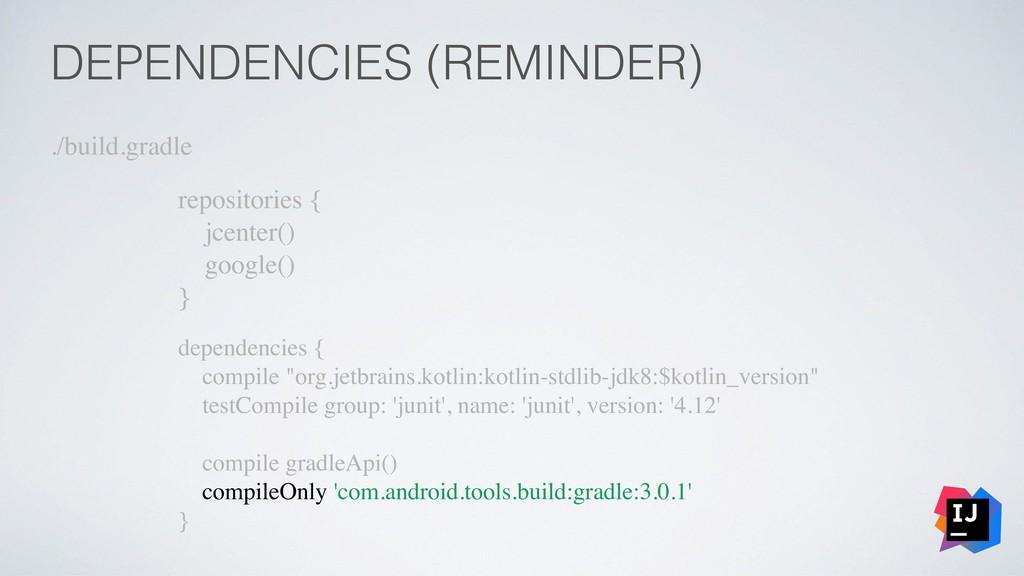 DEPENDENCIES (REMINDER) ./build.gradle reposito...