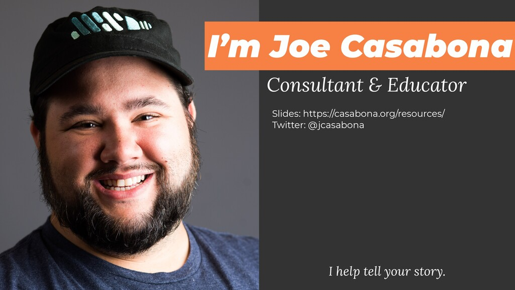 Consultant & Educator I help tell your story. S...