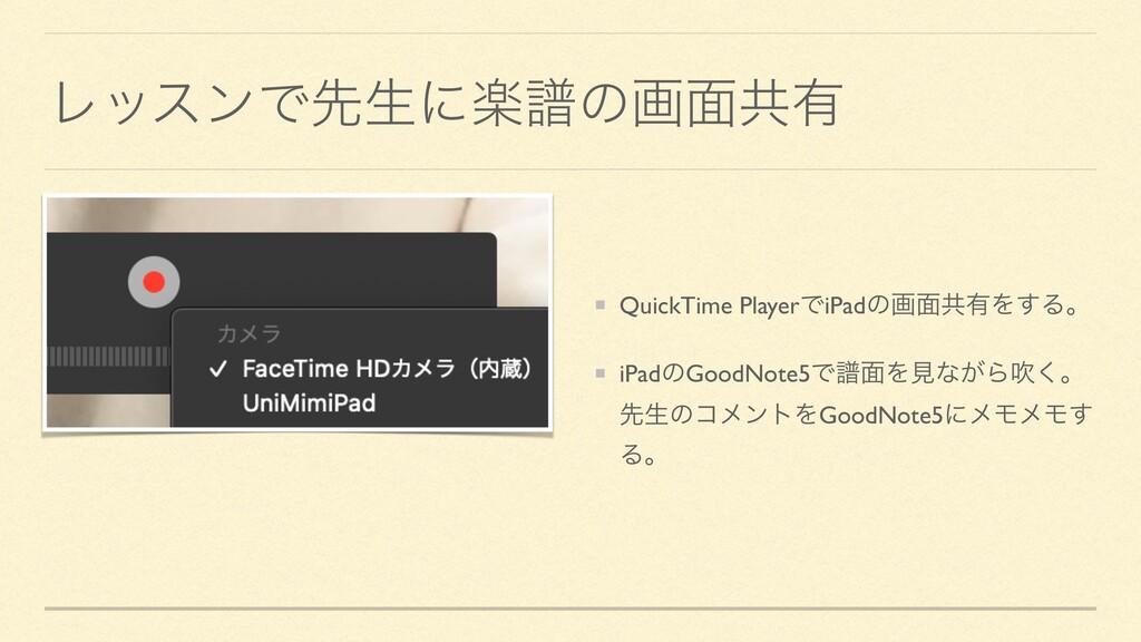 ϨοεϯͰઌੜʹָේͷը໘ڞ༗ QuickTime PlayerͰiPadͷը໘ڞ༗Λ͢Δɻ ...