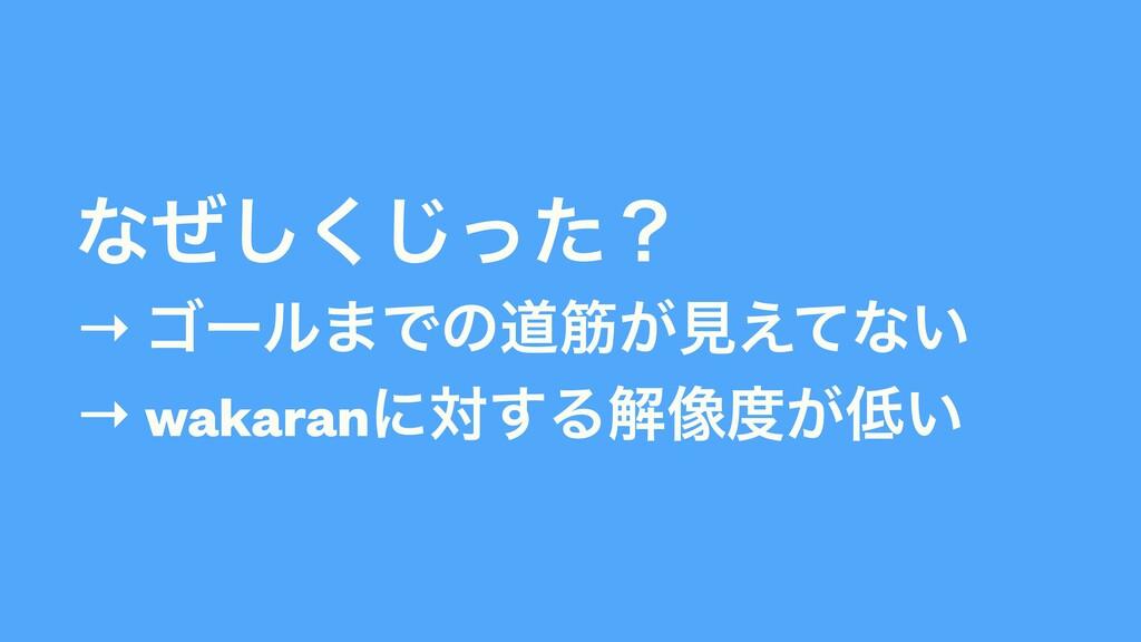 ͳͥͬͨ͘͠͡ʁ   → ΰʔϧ·Ͱͷಓے͕ݟ͑ͯͳ͍  → wakaranʹର͢Δղ૾͕...
