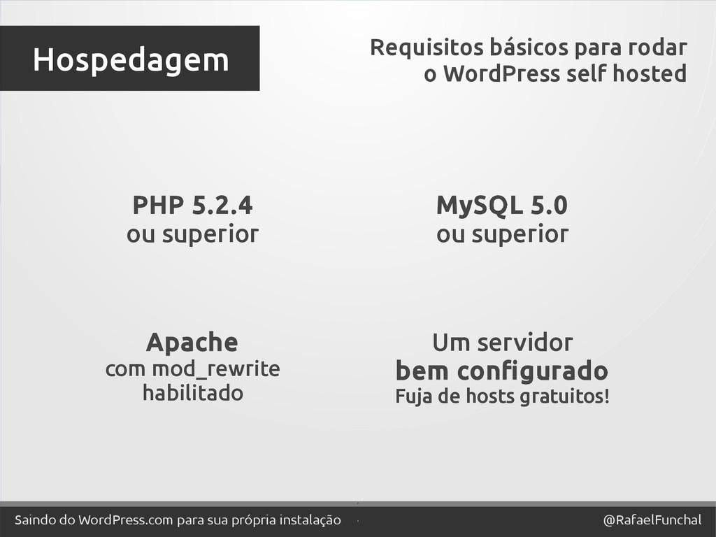 ' @RafaelFunchal Saindo do WordPress.com para s...