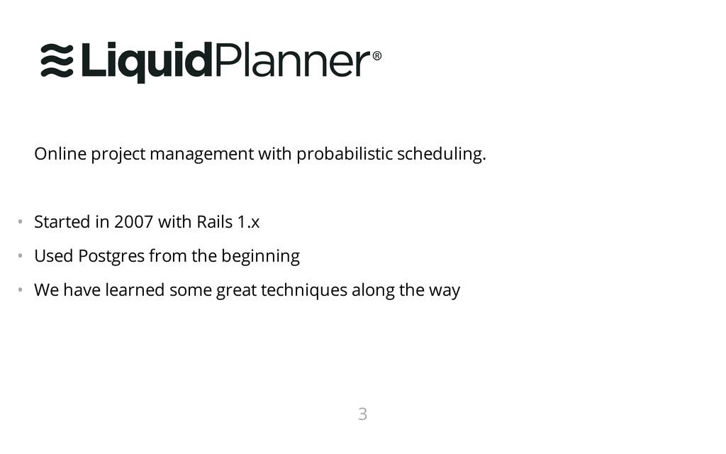 Online project management with probabilistic sc...