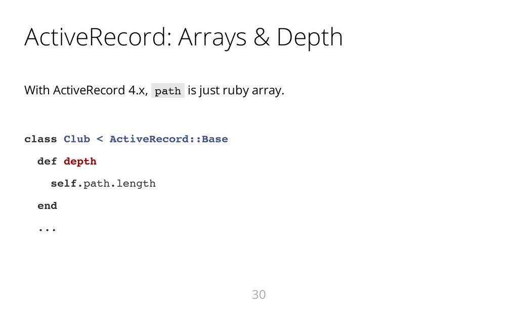 ActiveRecord: Arrays & Depth With ActiveRecord ...