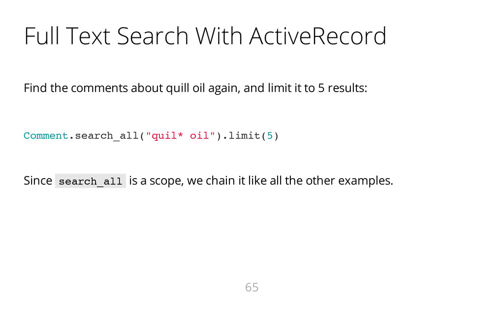 Full Text Search With ActiveRecord Find the com...