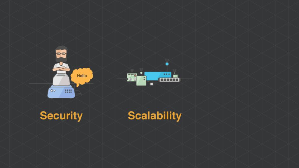 Scalability Security Hello