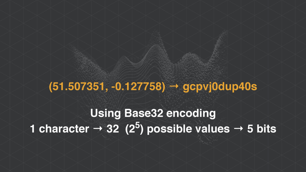 (51.507351, -0.127758) → gcpvj0dup40s Using Bas...