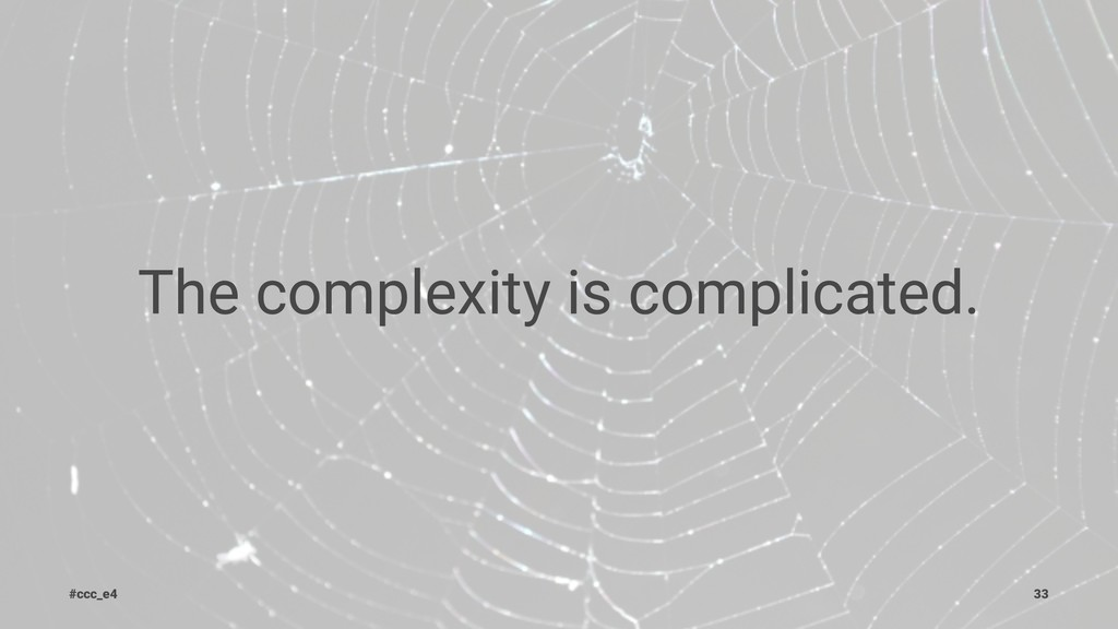 The complexity is complicated. #ccc_e4 33