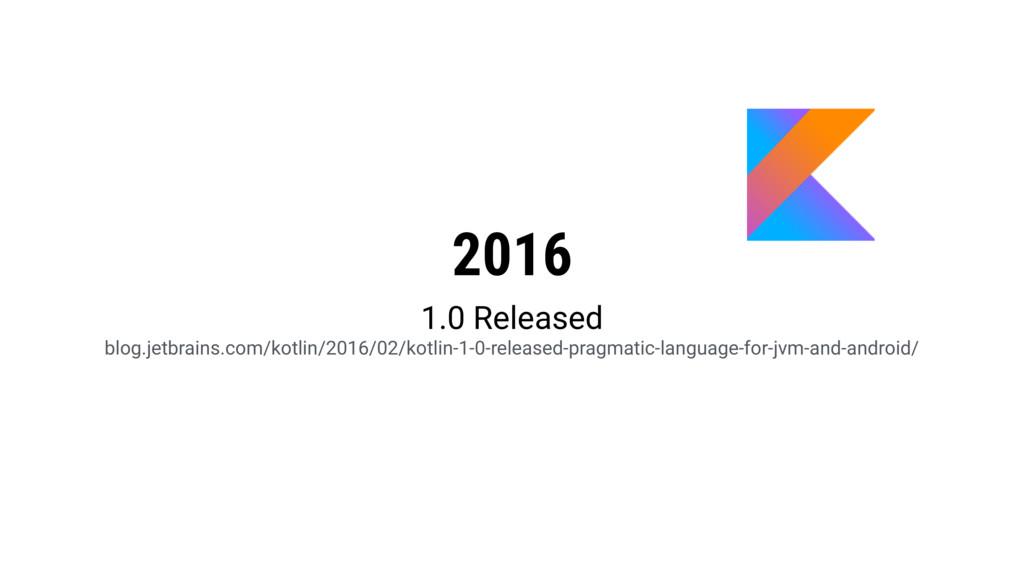 2016 1.0 Released blog.jetbrains.com/kotlin/20...