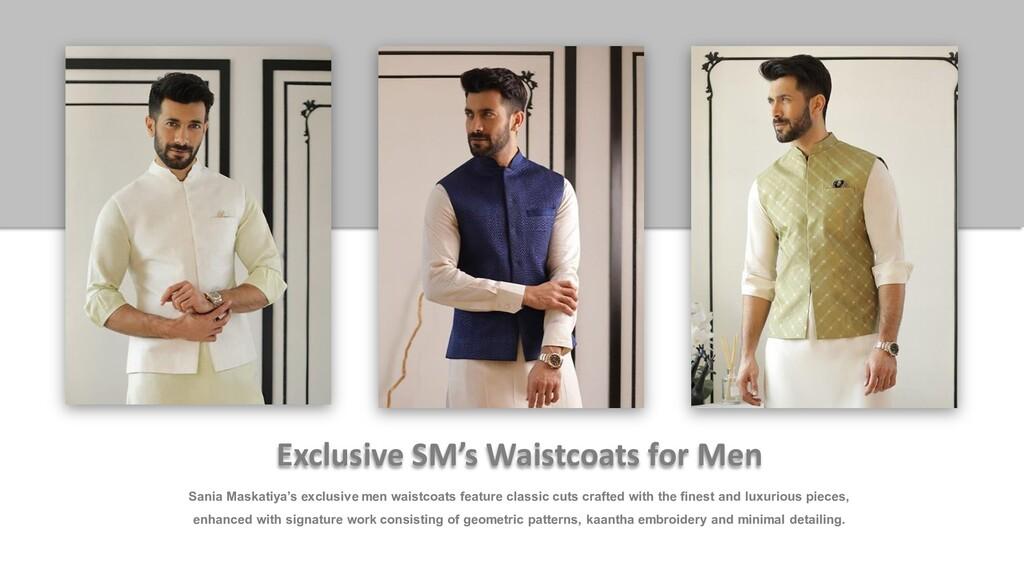 Sania Maskatiya's exclusive men waistcoats feat...