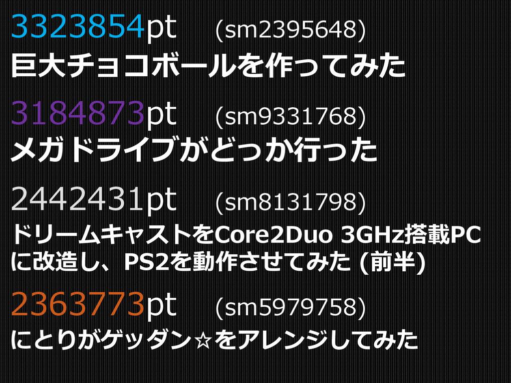 3323854pt (sm2395648) 巨大チョコボールを作ってみた 3184873pt ...