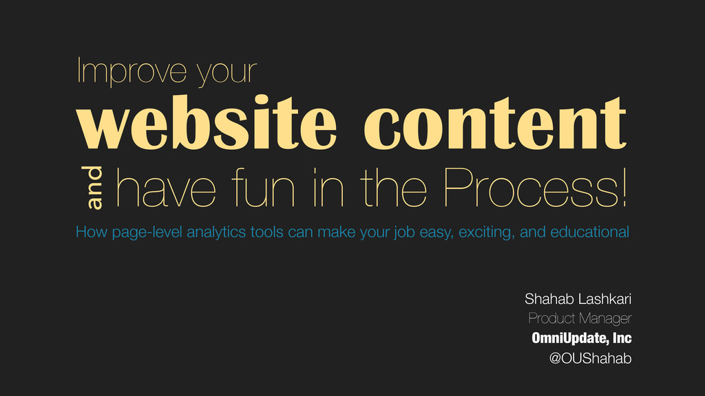website content How page-level analytics tools ...