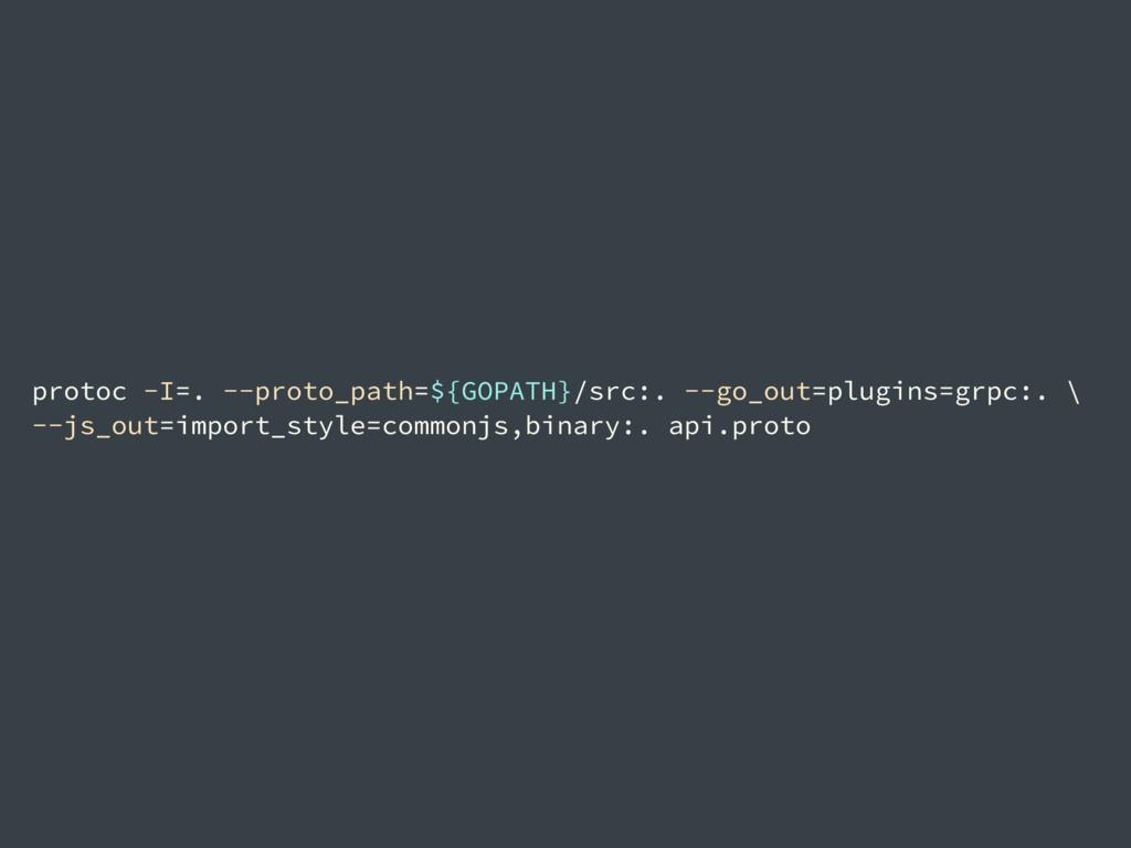 protoc -I=. --proto_path=${GOPATH}/src:. --go_o...