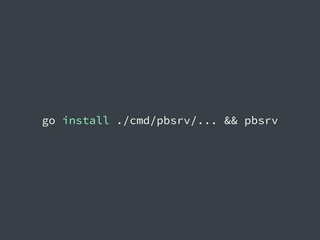 go install ./cmd/pbsrv/... && pbsrv