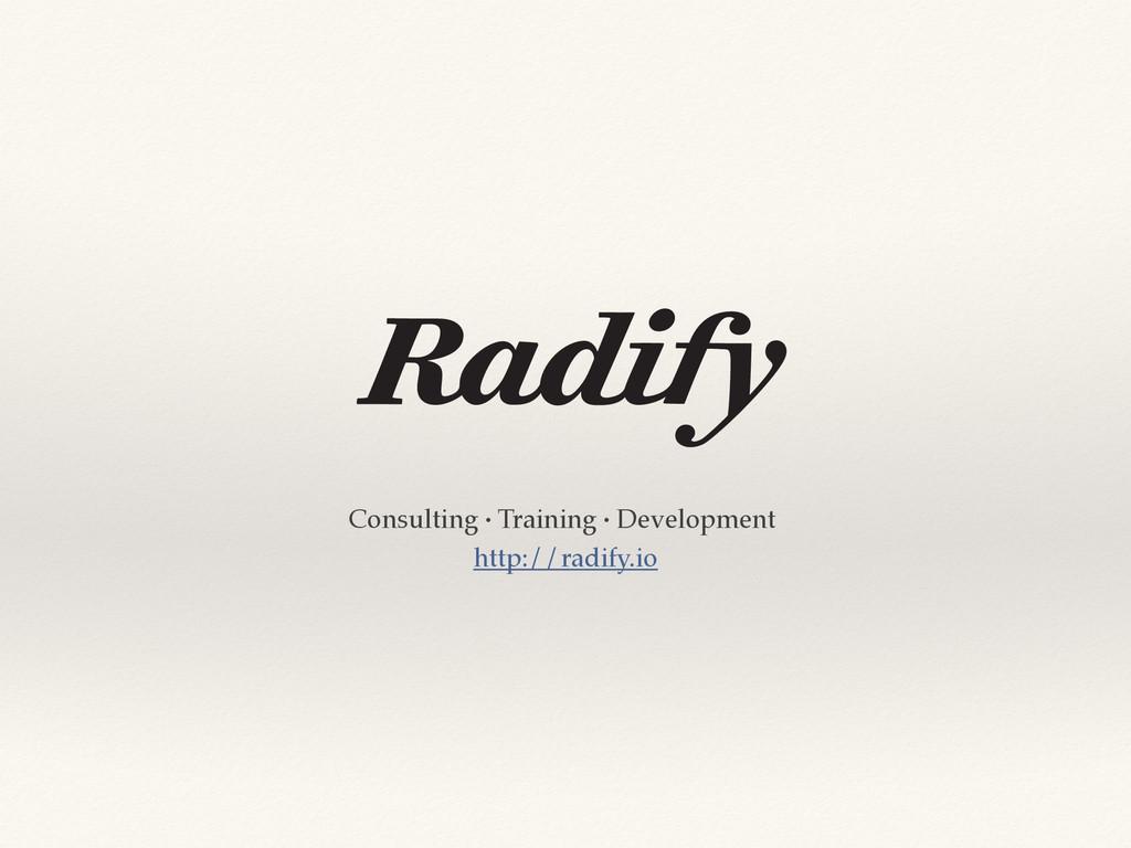 Consulting · Training · Development http://radi...