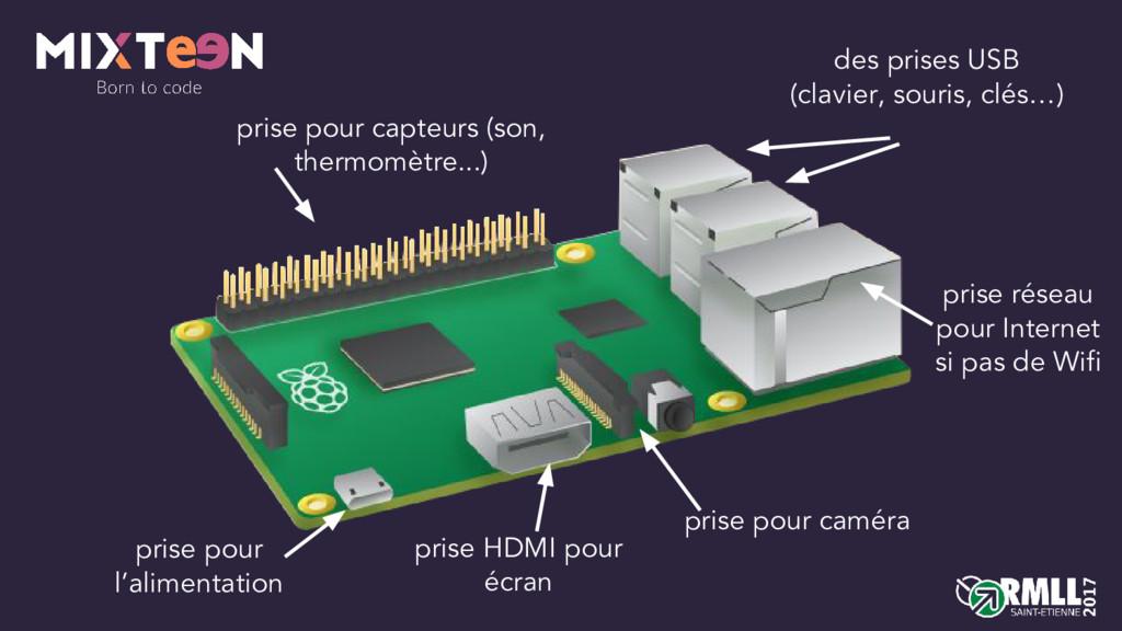 des prises USB (clavier, souris, clés…) prise r...