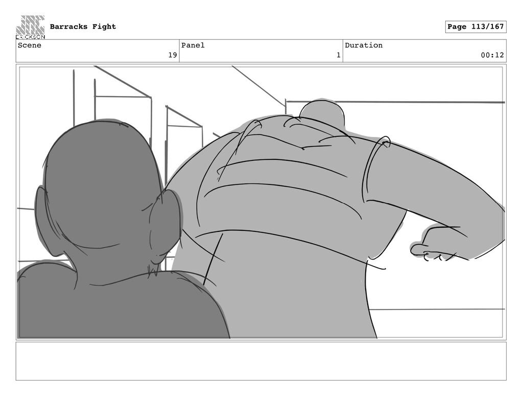 Scene 19 Panel 1 Duration 00:12 Barracks Fight ...