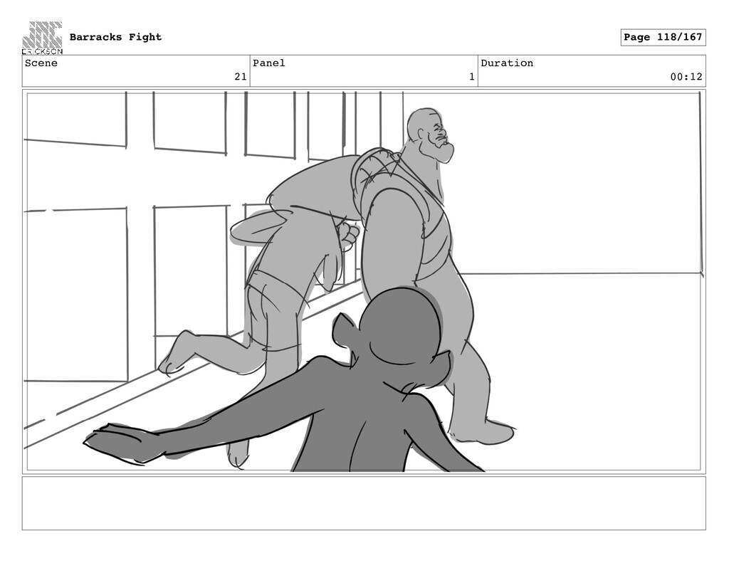 Scene 21 Panel 1 Duration 00:12 Barracks Fight ...