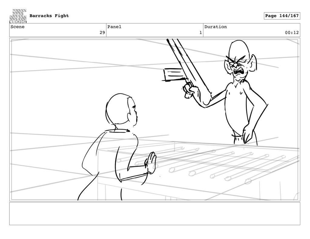 Scene 29 Panel 1 Duration 00:12 Barracks Fight ...