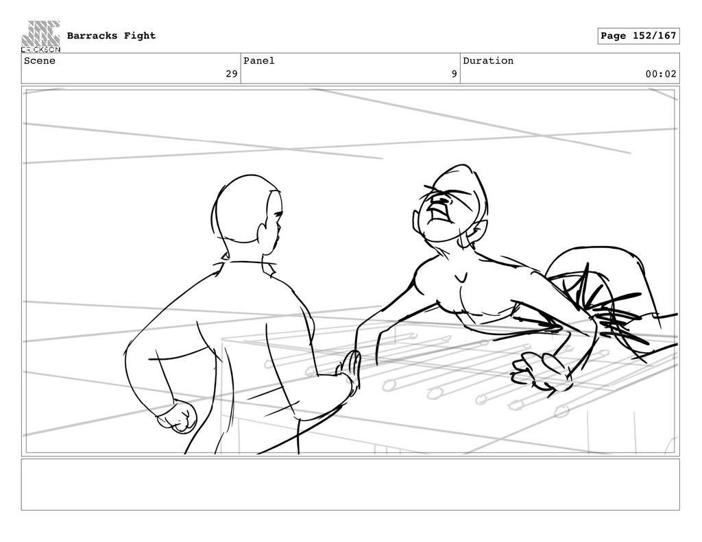 Scene 29 Panel 9 Duration 00:02 Barracks Fight ...