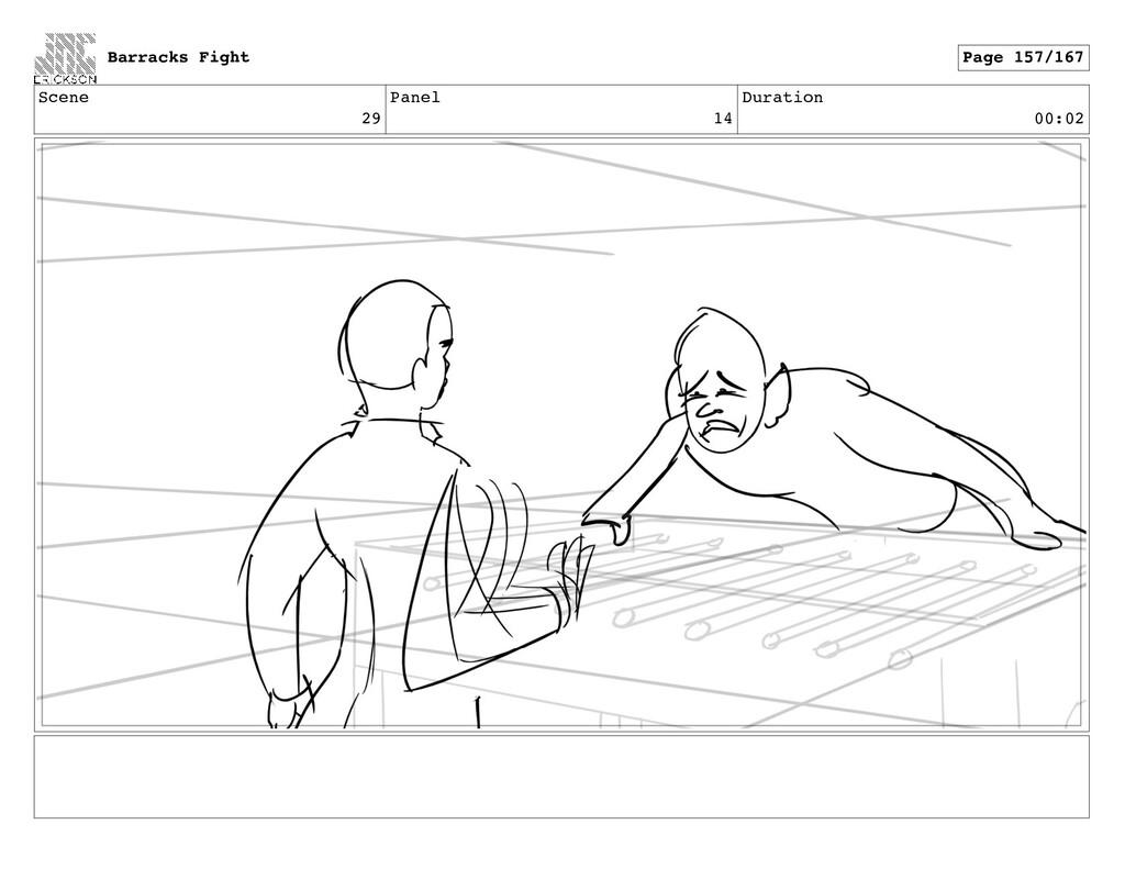 Scene 29 Panel 14 Duration 00:02 Barracks Fight...