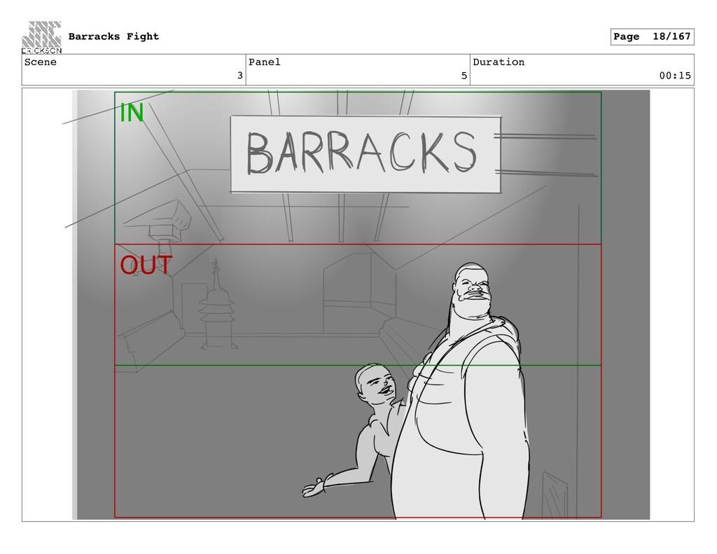 Scene 3 Panel 5 Duration 00:15 Barracks Fight P...