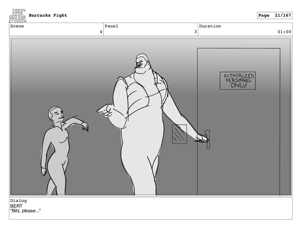 "Scene 4 Panel 3 Duration 01:00 Dialog BERT ""Bit..."