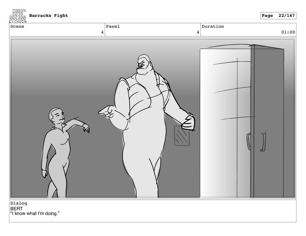 """Scene 4 Panel 4 Duration 01:00 Dialog BERT """"I k..."""