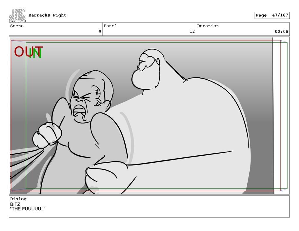 "Scene 9 Panel 12 Duration 00:08 Dialog BITZ ""TH..."