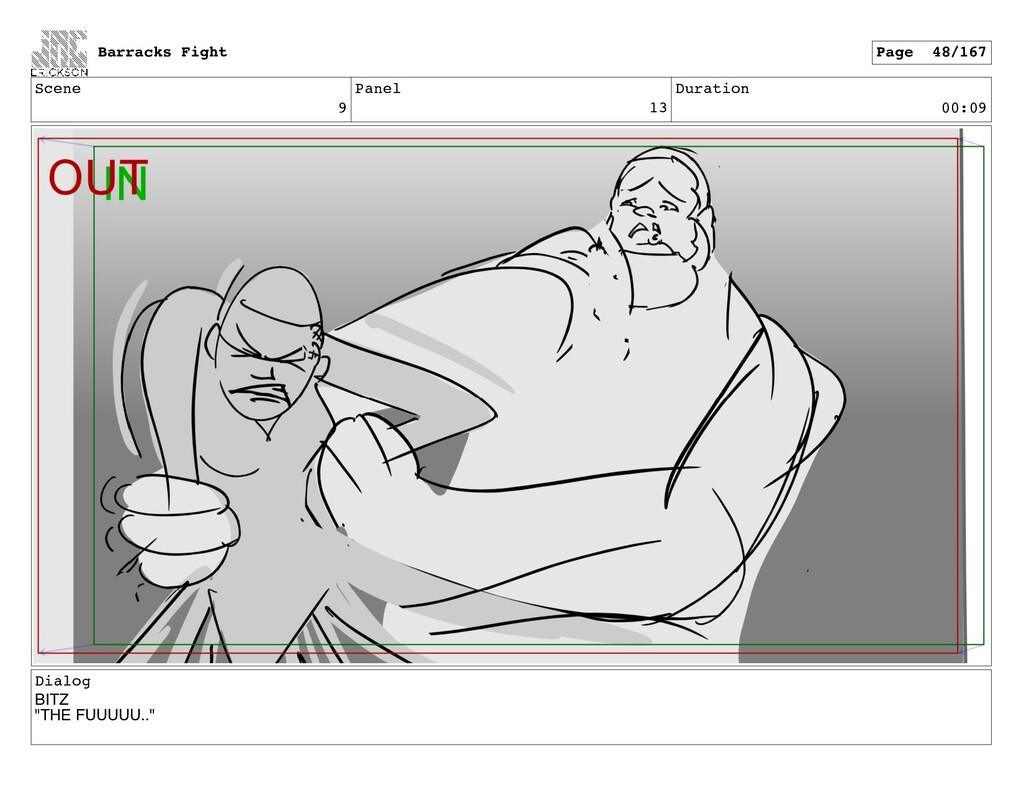 "Scene 9 Panel 13 Duration 00:09 Dialog BITZ ""TH..."