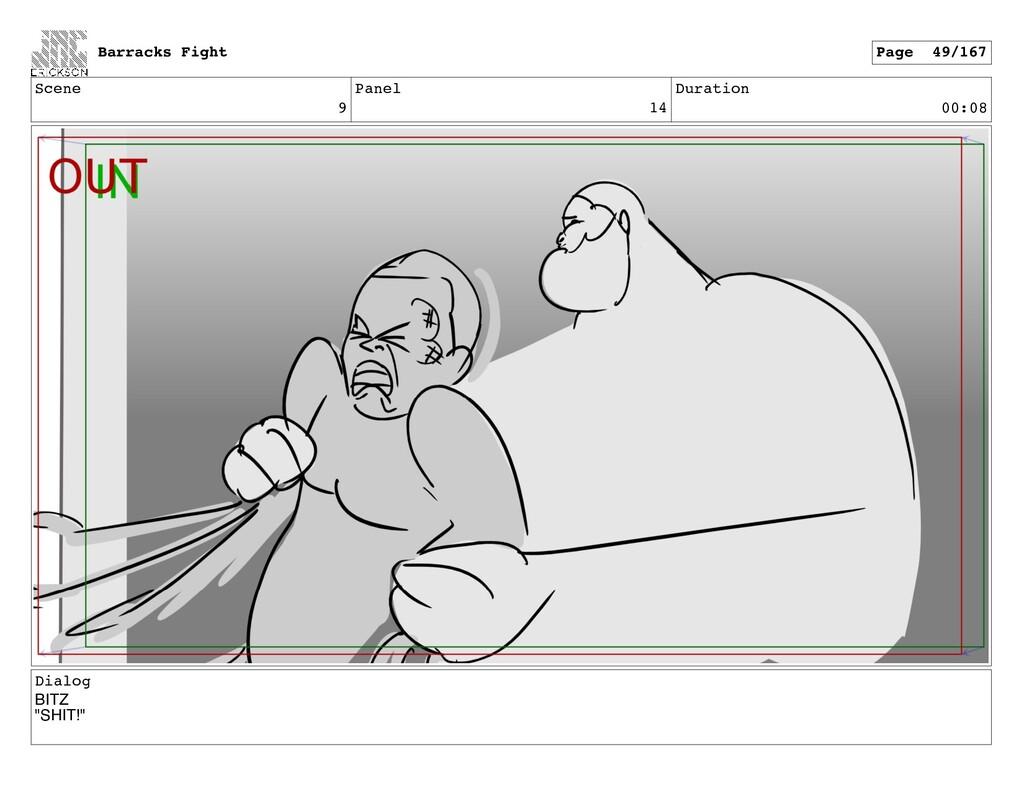 "Scene 9 Panel 14 Duration 00:08 Dialog BITZ ""SH..."