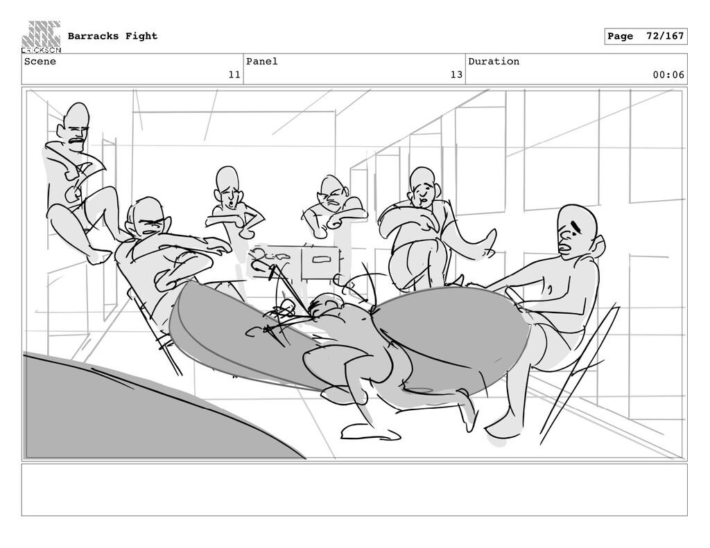 Scene 11 Panel 13 Duration 00:06 Barracks Fight...