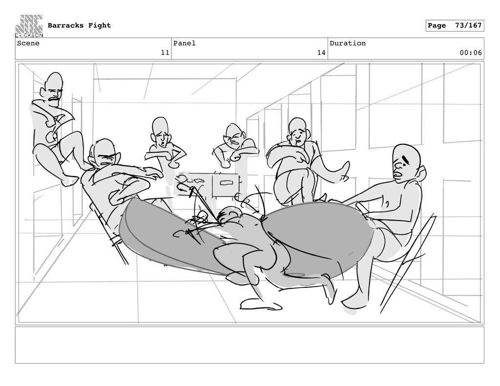 Scene 11 Panel 14 Duration 00:06 Barracks Fight...