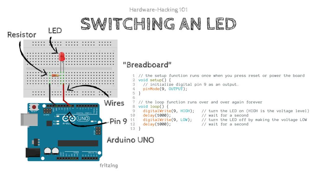 "Pin 9 ""Breadboard"" Arduino UNO LED Resistor Wir..."