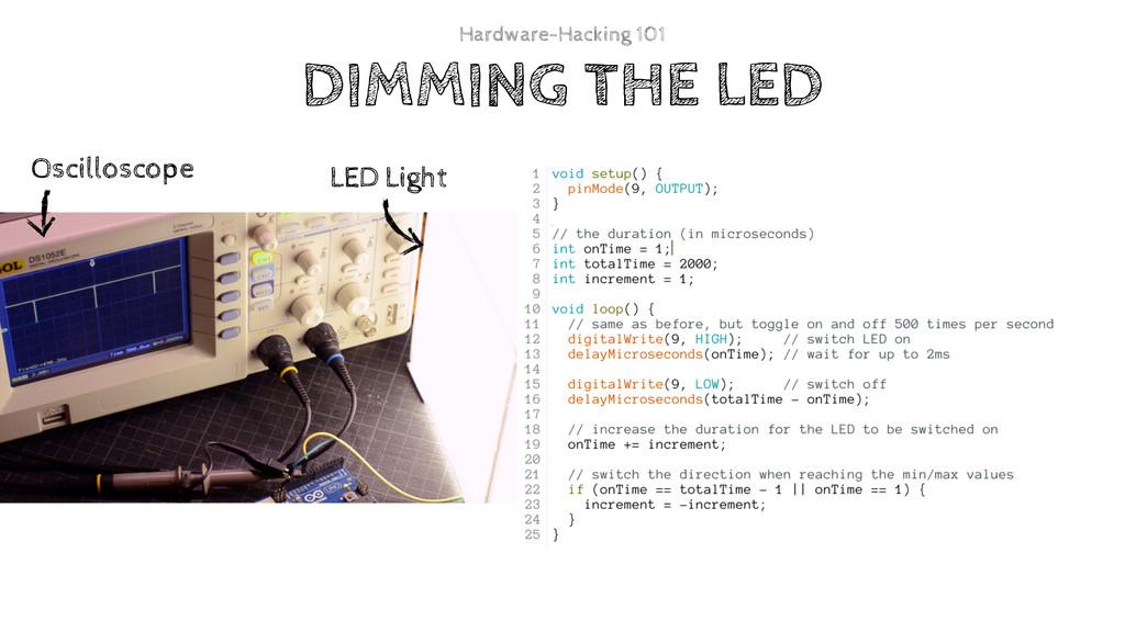 DIMMING THE LED Hardware-Hacking 101 Oscillosco...