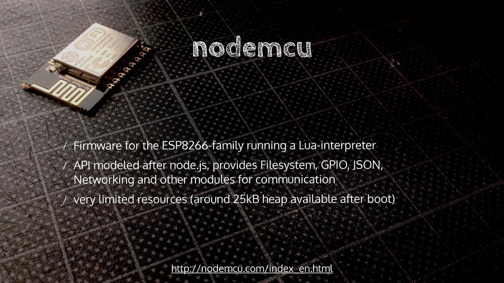 nodemcu http://nodemcu.com/index_en.html / Firm...