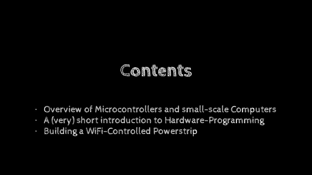 Contents • Overview of Microcontrollers and sma...
