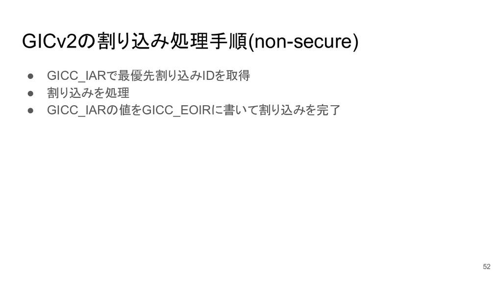 ● GICC_IARで最優先割り込みIDを取得 ● 割り込みを処理 ● GICC_IARの値を...