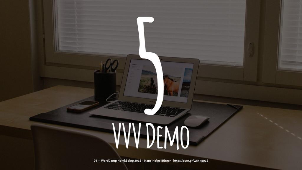 5 VVV Demo 24 — WordCamp Norrköping 2015 – Hans...