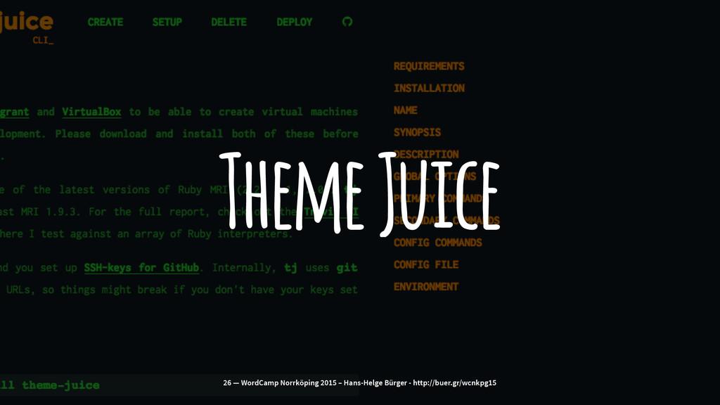 Theme Juice 26 — WordCamp Norrköping 2015 – Han...