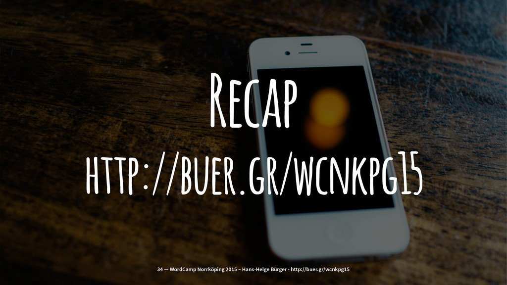 Recap http://buer.gr/wcnkpg15 34 — WordCamp Nor...