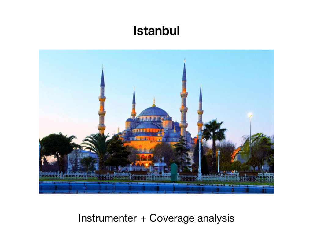 Istanbul Instrumenter + Coverage analysis