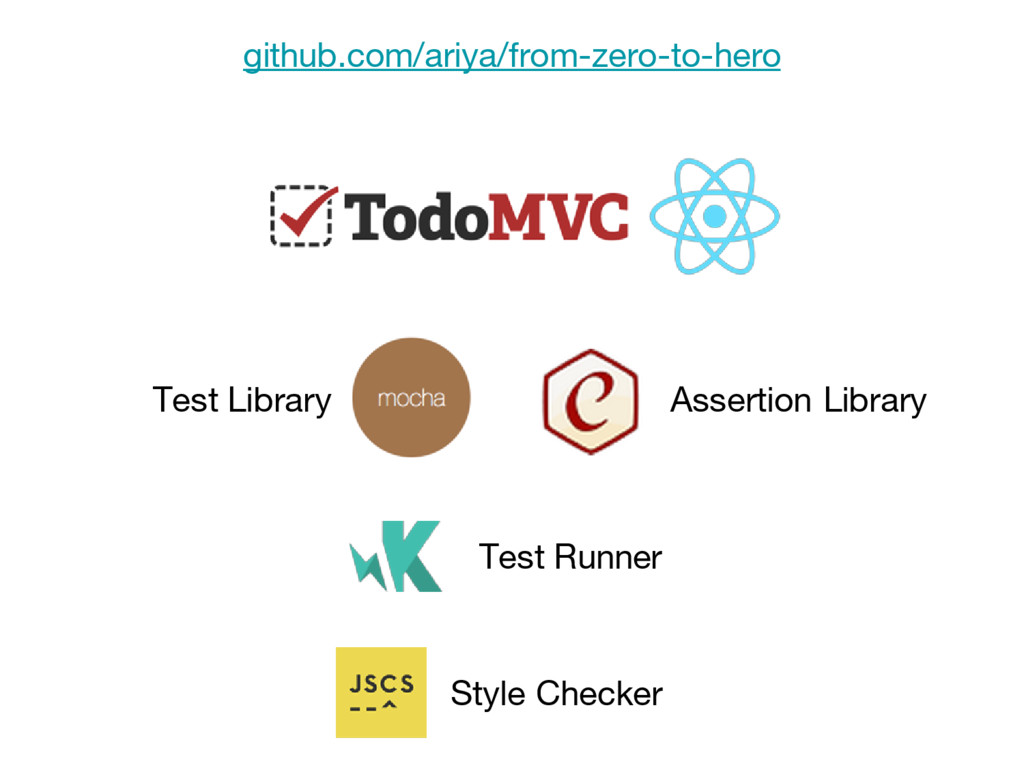 Test Runner Test Library Assertion Library Styl...