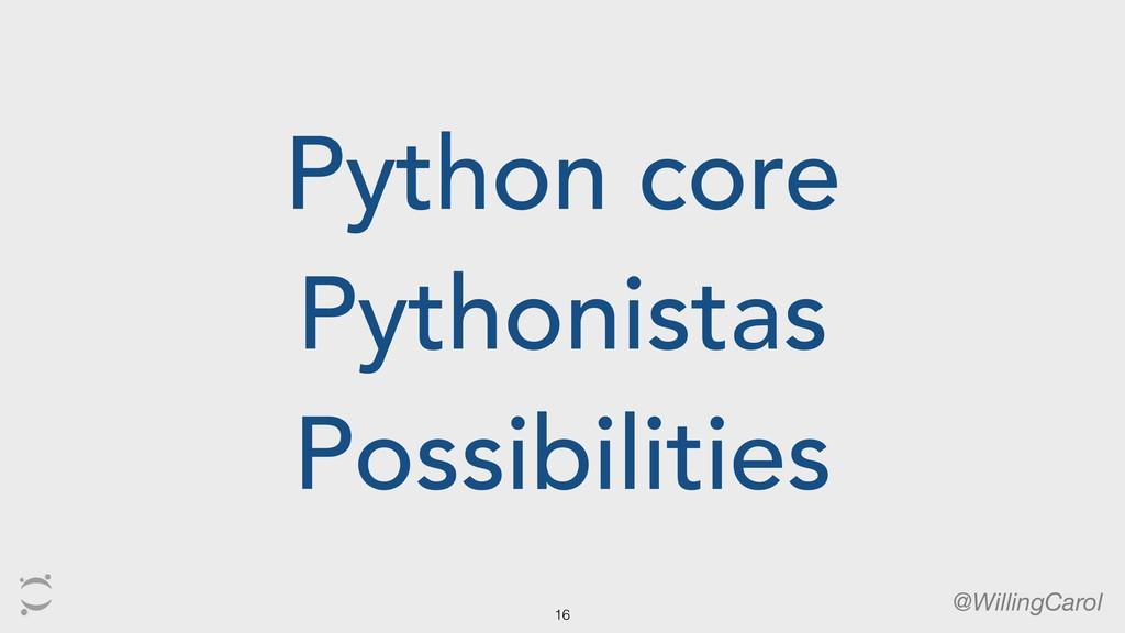Python core Pythonistas Possibilities @WillingC...