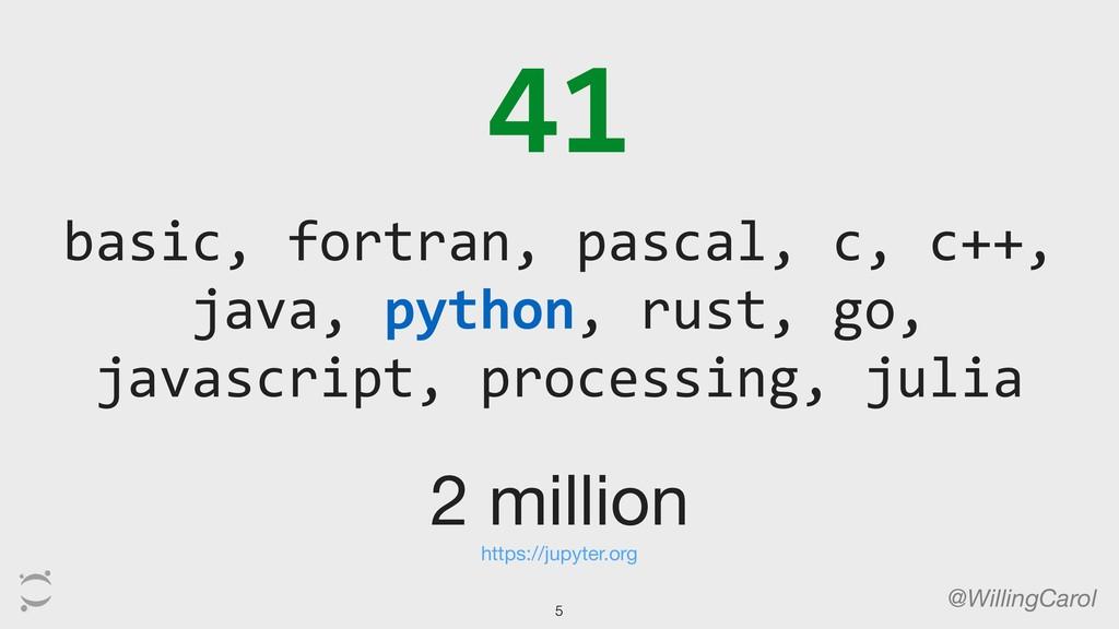 41 @WillingCarol basic, fortran, pascal, c, c++...