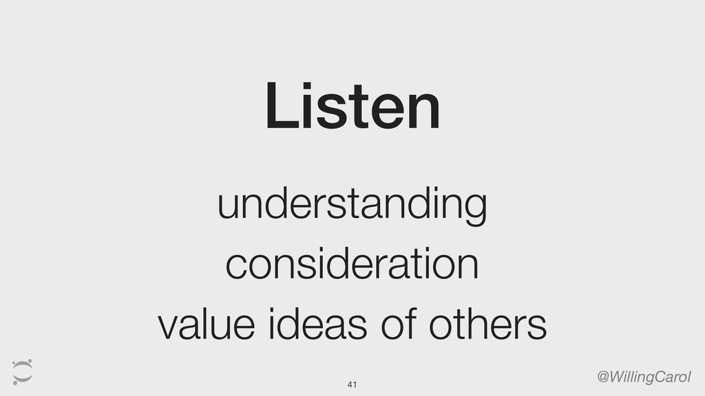 Listen @WillingCarol understanding consideratio...