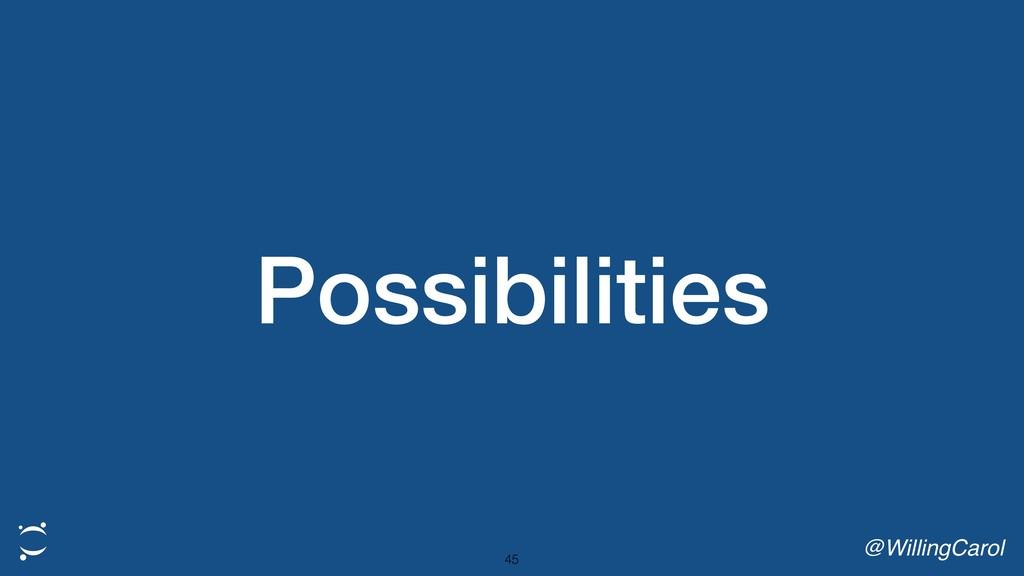 Possibilities @WillingCarol 45