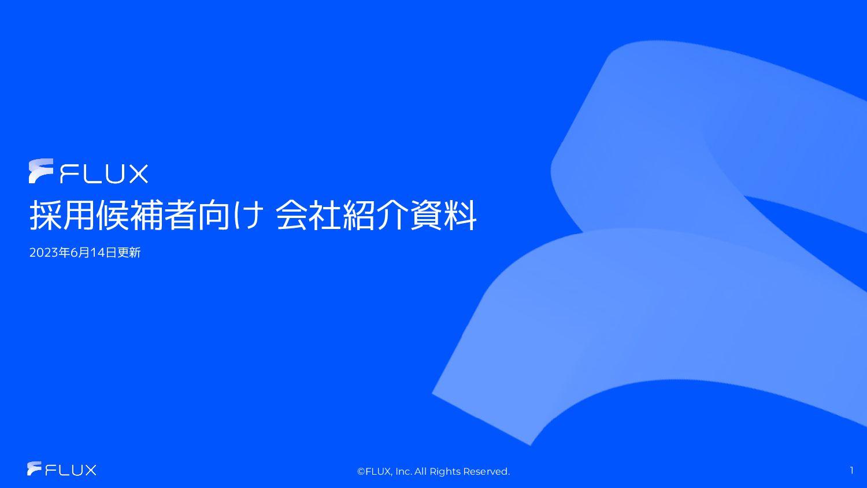 株式会社FLUX会社紹介資料 2021.05.07Updated FLUXInc.Al...