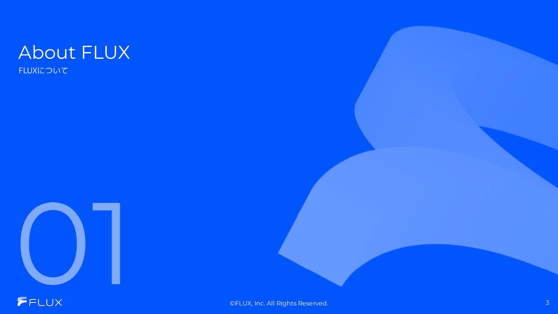 13億円(新株予約権、借⼊含む) 03 会社名 株式会社FLUX 事業概要 デジタルマーケ...